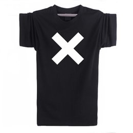 Banda Cuello Camisas Hombres Baratos-Al por mayor-The XX Rock Band camiseta Coexist Cross Indie Crooks Logo manga corta cuello redondo Pure Cotton T-Shirts Hombres sudadera Top Tees