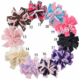 Clips De Gymboree Baratos-El Hairbows acodado Hairbows del bebé de 20pcs M2MG Gymboree encrespa el corcho del boutique de los clips de los arcos de los cabritos de Korker para los cabritos de los niños headbabd PD014