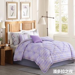 Wholesale polyester printing fabric with brushed quilt comforter queen size 3.50kgs king size 4.0kgs white color 16001 tinghao