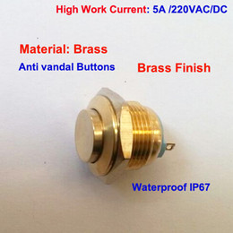 $enCountryForm.capitalKeyWord Canada - Custom-made Brass Finish 12V 24V 48V 220V 250v 3A current waterproof IP67 anti vandal push button switch for electronic cigarette