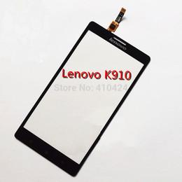 Original 5.5inch Negro digitalizador táctil de cristal de la pantalla para el fin de la lente del panel frontal Lenovo VIBE Z K910 $ 18Nadie pista