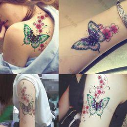 Ingrosso Nuovo tatuaggio temporaneo per le donne Tatoo Body Sticker Sticker Art 19 * 12cm impermeabile Tatoo Fake Sticker