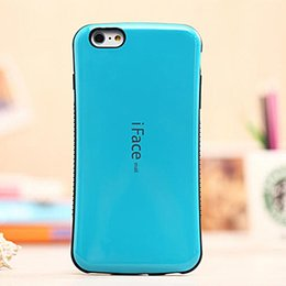 iface iphone 5s NZ - Anti-slip Shockproof IFace TPU Case Cover New Style Candy Color Cellphone Shell for iPhone 5 5S 6 6Plus with Retail box