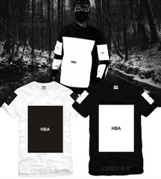 Discount fashion blank tees Size S--3XL 2017 summer t shirt Hood By Air HBA Been Trill Kanye blank print Hba tee men tshirts 5 color 100% cotton