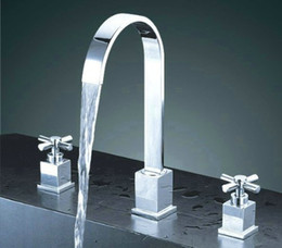 New Brand Bathroom Basin Faucet Of 3pcs Chrome Waterfall Luxury Faucet  Hotselling Ratail Competitive Price Z804