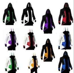$enCountryForm.capitalKeyWord Canada - 2015 Hot Sale Custom Fashion Assassins Creed III Connor Kenway Hoodie Costume Jackets Coat 11 colors choose direct from factory