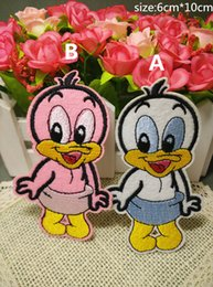 $enCountryForm.capitalKeyWord NZ - Free Shipping~duck fashion Iron On Embroidered Patch Appliques DIY bag clothing patches Applique Badges
