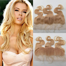 $enCountryForm.capitalKeyWord NZ - ear to ear #613 blonde lace frontal closures 13*4 virgin brazilian human hair body wave full lace frontal with baby hair 10-24inch