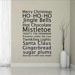 wall stickers words nursery NZ - Merry Christmas Greetings Proverbs Wall Stickers Home Decor Living Room Diy Art Decals Removable HOUSE RULES Words Wall Decals