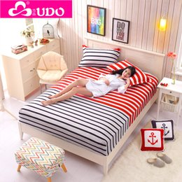 Elastic Beds Canada - Wholesale-You Duo Home Textile Cotton Super Soft High Quality Elastic Bed Sheets Reactive Printing Mattress Covers CM003