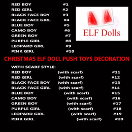 Chinese  20 Style Christmas Elf Doll Plush Toys Boy Girl Elves Book Stuffed Dolls Kid Children XMAS Toys Decorations Gifts HH7-260 manufacturers
