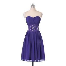 $enCountryForm.capitalKeyWord UK - New Cheap Homecoming Dresses Sweetheart Beaded Pleated Chiffon Fashion Simple Design Short Prom Gowns Zipper Back Custom Made H68