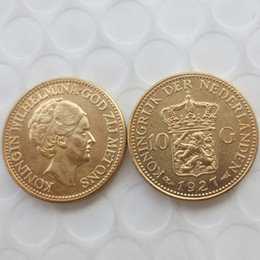 factory arts Australia - Netherlands, Wilhelmina I, 10 Gulden, 1927 Gold Plated Promotion Cheap Factory Price nice home Accessories Silver Coins