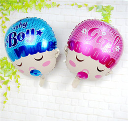 Lovely Boy Girl Baby Head Balloon Baby Shower Aluminium Foil Balloons For  Baby Birthday Party Decoration Globos Budget Shower Head Baby