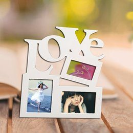 frames love Australia - New 1PC DIY Love Wooden Photo Frame With 3 Wood Picture Frame Gift Practical Family Photo Picture Frame Home Decor