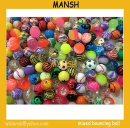 bouncing ball for kids Canada - 27mm mixed rubber bouncing ball bouncy skip ball for kids toys ball Free Shipping 30pcs lot