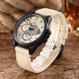 2017 explosões dos homens novos esportes assistir três olhos trançado pulseira de relógio senhoras pulseira de malha tecido relógio corda de couro rachado banda