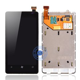 $enCountryForm.capitalKeyWord Canada - Wholesale-With Tools 1PC For  Lumia 800 N800 LCD Display + Touch Screen Full Assembly Digitizer with Frame With Tracking Number