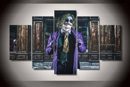 $enCountryForm.capitalKeyWord NZ - 5 Pcs With Framed Printed joker batman dark Painting on canvas room decoration print poster picture canvas magnolia paintings canvas