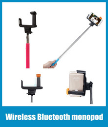 Wholesale Z07 Bluetooth Wireless Mobile phone Monopod Tripod Selfie Camera Remote Controller Holder Cradle Bracket for samsung iphone OTH006