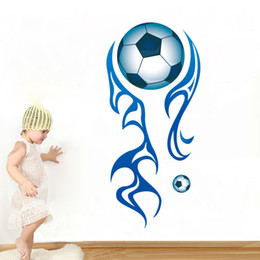 $enCountryForm.capitalKeyWord NZ - New Arrival Football Wall Stickers for Sports Kids Room Removable Soccer Boy's Room Wall Art Murals Wallpaper Decor