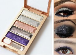 Low Price Glitter Eyeshadow Canada - Lowest price ! 5 Color Eyeshadow Makeup Eye Shadow Palette Super Flash Diamond Eyeshadow High Quality Glitter free shipping DHL6066