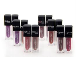 Lip qibest online shopping - 144pcs DHL free Waterproof lipstick Long Lasting Lip Gloss QiBest Makeup Lips Colors Lip Glosses Non stick Cup lipstick