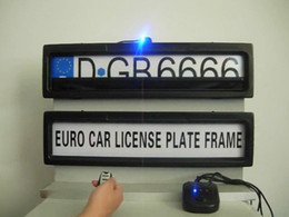 Camera Theft Canada - Free shipping 2016 best quality hide car number with remote control Euro Russia car license roller plate frame for Euro Russia