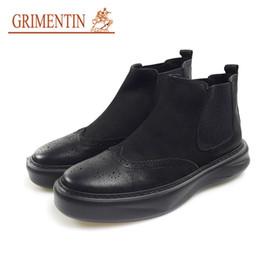 $enCountryForm.capitalKeyWord Canada - GRIMENTIN brand designer men ankle boots fashion genuine leather black casual mens boots for sale formal male shoes JM