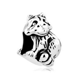 $enCountryForm.capitalKeyWord NZ - Big Hole beads cute Raccoon animal lucky European spacer bead metal charm bracelets Pandora Chamilia Compatible