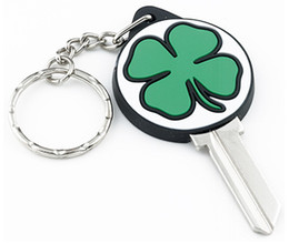 $enCountryForm.capitalKeyWord Australia - 100 pieces color rubber 3d CLOVER house key blanks in KW10 for Kwikset locks or SC1 for Schlage locks