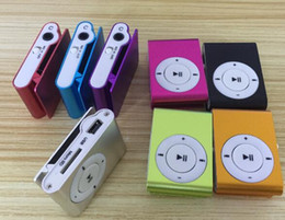 Cheap Card boxes online shopping - 2018 hot Mini Clip MP3 Player Hot Cheap Colorful Sport mp3 Players Come with Earphone USB Cable Retail Box Support Micro SD TF Cards