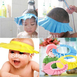 Baby Wash Hair Canada - 1pcs Kids Baby Shower Bathing Funny Wash Hair Shield Hat cap Protects Your Baby or Toddler's Eyes