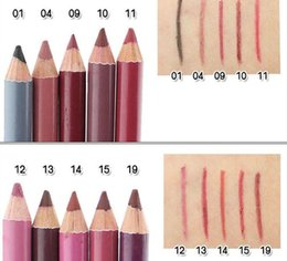 mix tools 2019 - Lip Pencils Cosmetic Pro Waterproof Lipliner Soft LipLiner Pencil 14Colors Eyebrow pencil eyeliner makeup kits tool 15cm