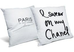 Wholesale I Swear On My Paris Cute Velvet Soft White And Black Pillow Cover  Creative Velvet Throw Pillow Case Pillowcase High Quality