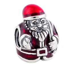 China DIY New pandora christmas man charms loose beads fit european DIY charms bracelets suppliers