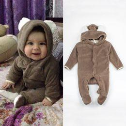$enCountryForm.capitalKeyWord NZ - Cartoon Fleece Newborn Baby Clothes Animal Overall Menina Baby Costume Warm Longsleeve Baby Rompers Retail Boy Romper