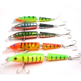 jointed minnow lures Canada - 10PCS Pack High Quality Fish Accessories Best Sale Jointed Minnow Lure Fishing Bait 10.5CM Hard Lure For Fishing