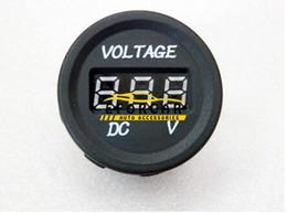 Опт Автозапчасти датчик вольтметры LED 12V-24V водонепроницаемый автомобиль мотоцикл DC цифровой дисплей вольтметр для монитора