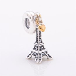 a843d044a Pandora Eiffel Tower Charm UK - EIFFEL TOWER PENDANT CHARM DIY Beads Real  Solid 925 Sterling