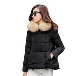 fa7b3f99255 Women Parkas Jackets Coats Winter Warm Outerwear Clothes Womens Short A  Line Cape Hooded Faux Fur Collar Coat Womens Downs Jackets