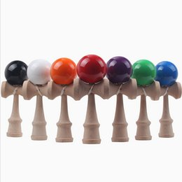 China Kendama Ball Funny Japanese Traditional Beech Wood Game 18 Color Kendama Ball 19*6 cm Education Toy Children Gift Intelligence Toys cheap japanese ball toy suppliers