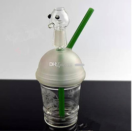 Discount sandblasted hookah - 2018 Rushed Phone Cases free Shipping Sandblasted Starbuck Cup Dab Concentrate Oil Rig Glass Bongs 14.4mm Dome And Nail