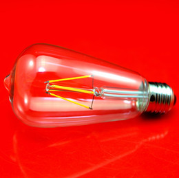 BuBBle Ball BulB lamp online shopping - Special Offer ST64 Dimmable Filament LED Bulb Clear Glass W W AC110 V E27 Beam Angle Indoor LED Filament Lights Lamp