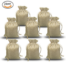 small jute bags wholesale NZ - NATURAL BURLAP BAGS Candy Gift Bags Wedding Party Favor Pouch JUTE HESSIAN DRAWSTRING SACK SMALL WEDDING FAVOR GIFT