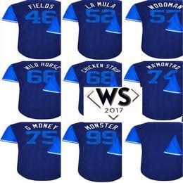 d6aa1fd5e97 2017 Little League WS Patch Players Weekend Men Lady Kid Los Angeles Yasiel  Puig Wild Hyun-Jin Ryu Monster Josh Fields Blue Baseball Jerseys cheap  field ...