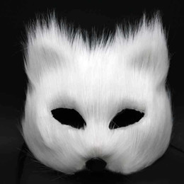 $enCountryForm.capitalKeyWord Canada - Magic Sexy Fox Face Women Mask Half Face Gray Red White Feather Masquerade Party Mask Festive Party Supplies Valentines Gift 5pcs lot SD397