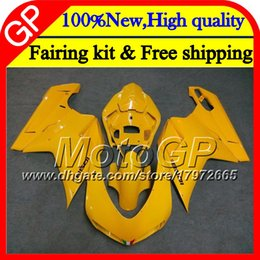 Motorcycle S Fairings NZ - Body For DUCATI 848 1098 1198 07 08 09 10 11 848R Gloss yellow 1098R 14GP7 848S S R 1098S 1198S 2007 2008 2009 2010 2011 Motorcycle Fairing