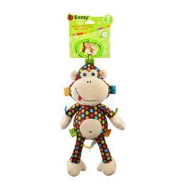 $enCountryForm.capitalKeyWord UK - Wholesale- Sozzy Cute Cartoon Plush Baby Rattle Toy Monkey Pull Bell Soft Plush Toys Infant Lovely Appease Dolls Kids Toys