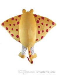 yellow fish costumes NZ - SX0728 Light and easy to wear sea Skate ray fish mascot costume for adult to wear for sale